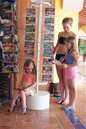preteen thong - Three Girls in Vacation Gift Shop Stock Photo - Rights-Managed, Code: 700-00161713
