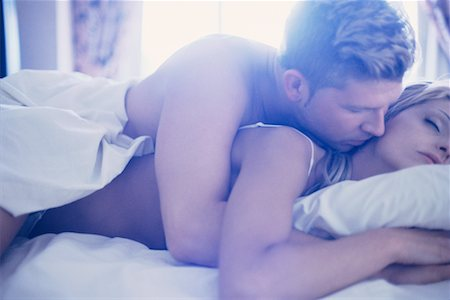 Couple in Bed Stock Photo - Rights-Managed, Code: 700-00162325