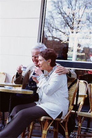 Couple at Cafe Stock Photo - Rights-Managed, Code: 700-00163438