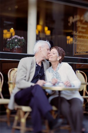 Couple at Cafe Stock Photo - Rights-Managed, Code: 700-00163439