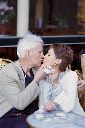 Couple at Cafe Stock Photo - Rights-Managed, Code: 700-00163440