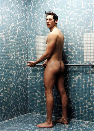 Man Taking Shower Stock Photo - Rights-Managed, Code: 700-00178852