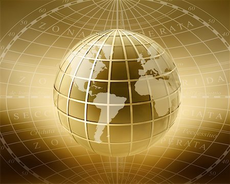 Globe Displaying North and South America, Europe and Africa Stock Photo - Rights-Managed, Code: 700-00184063