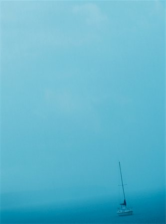 sailing boat storm - Boat in a Rain Storm Stock Photo - Rights-Managed, Code: 700-00185543