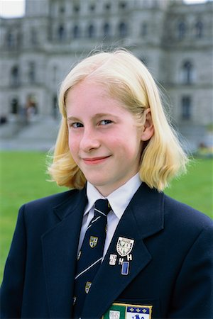 Girl at Private School Stock Photo - Rights-Managed, Code: 700-00187870