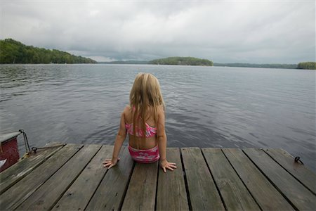 peter griffith - Girl on a Dock Stock Photo - Rights-Managed, Code: 700-00188078
