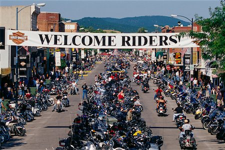 Harley Davidson Rally Sturgis, South Dakota, USA Stock Photo - Rights-Managed, Code: 700-00189341