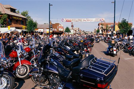 Harley Davidson Rally Sturgis, South Dakota, USA Stock Photo - Rights-Managed, Code: 700-00189342