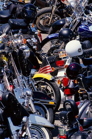 Harley Davidson Rally Sturgis, South Dakota, USA Stock Photo - Rights-Managed, Code: 700-00189343