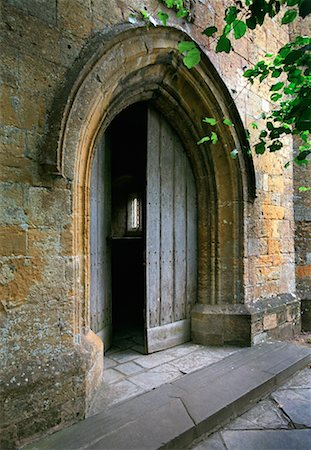 Doorway, Cotswolds, England Stock Photo - Rights-Managed, Code: 700-00182934