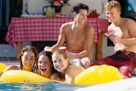 Teenagers at Pool Party Stock Photo - Rights-Managed, Code: 700-00183125