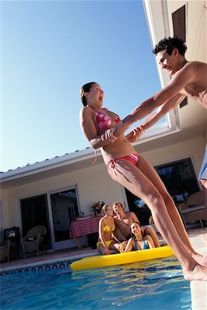 Teenagers by Swimming Pool Stock Photo - Rights-Managed, Code: 700-00183136