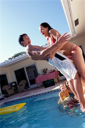 Teenagers by Swimming Pool Stock Photo - Rights-Managed, Code: 700-00183137