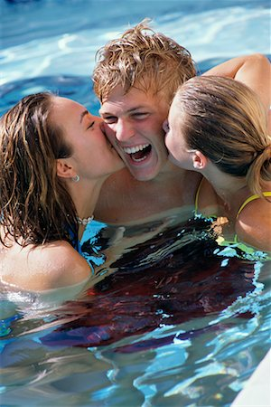 Teenagers in Swimming Pool Stock Photo - Rights-Managed, Code: 700-00183138