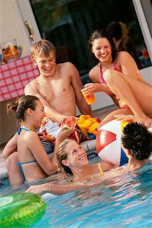 Teenagers at a Pool Party Stock Photo - Rights-Managed, Code: 700-00183132