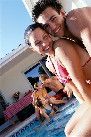 Teenagers by Swimming Pool Stock Photo - Rights-Managed, Code: 700-00183141