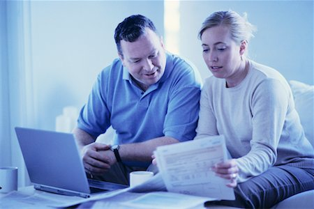 Couple Paying Bills Online Stock Photo - Rights-Managed, Code: 700-00194708