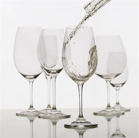 Pouring White Wine Stock Photo - Rights-Managed, Code: 700-00196545