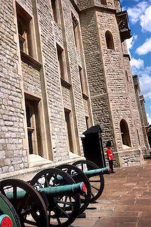Canons and Guard at Tower of London London, England Stock Photo - Rights-Managed, Code: 700-00196589
