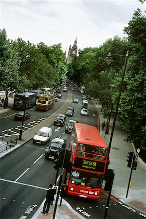 Traffic on Victoria Embankment London, England Stock Photo - Rights-Managed, Code: 700-00196715