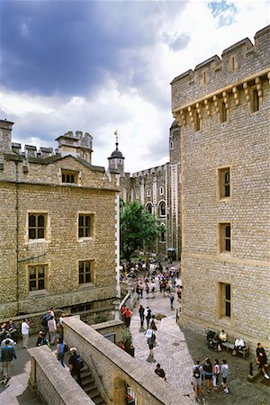 Overview of Courtyard Tower of London London, England Stock Photo - Rights-Managed, Code: 700-00196740