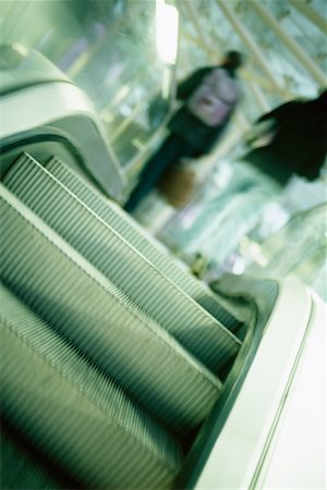 People on Escalator at Airport Stock Photo - Rights-Managed, Code: 700-00197173