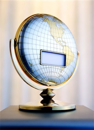 Blank LCD Screen on Globe Stock Photo - Rights-Managed, Code: 700-00199193