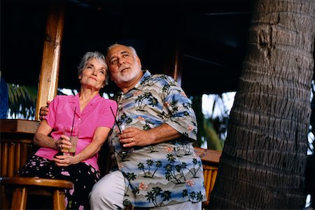 Couple at Tropical Resort Stock Photo - Rights-Managed, Code: 700-00190811