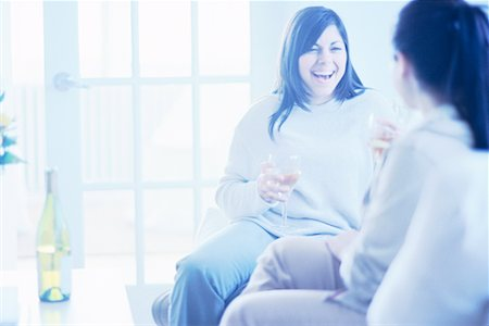 fat italian woman - Women Drinking Wine Stock Photo - Rights-Managed, Code: 700-00193399