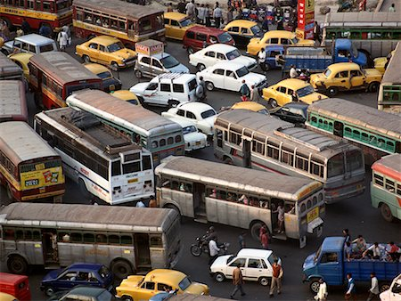 Traffic Congestion Calcutta, India Stock Photo - Rights-Managed, Code: 700-00268937
