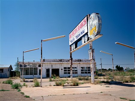 rural gas station - Abandoned Gas Station Route 66, New Mexico, USA Stock Photo - Rights-Managed, Code: 700-00268931