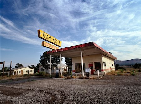 rural gas station - Abandoned Gas Station Route 66, New Mexico, USA Stock Photo - Rights-Managed, Code: 700-00268932