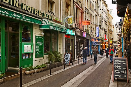 Street Scene Latin Quarter, Paris, France Stock Photo - Rights-Managed, Code: 700-00269557