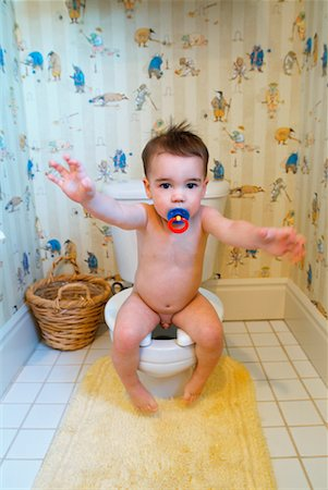 Toddler on Toilet Stock Photo - Rights-Managed, Code: 700-00284857