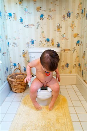 Toddler on Toilet Stock Photo - Rights-Managed, Code: 700-00284858
