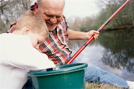 Grandfather and Grandson Fishing Stock Photo - Rights-Managed, Code: 700-00285242