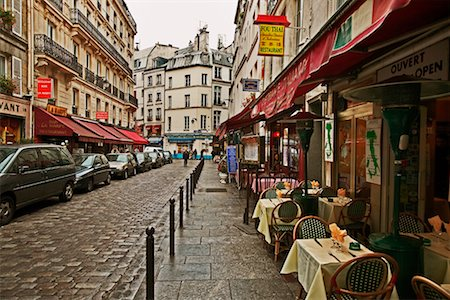 Sidewalk Cafe Latin Quarter Paris France Stock Photo - Rights-Managed, Code: 700-00285793