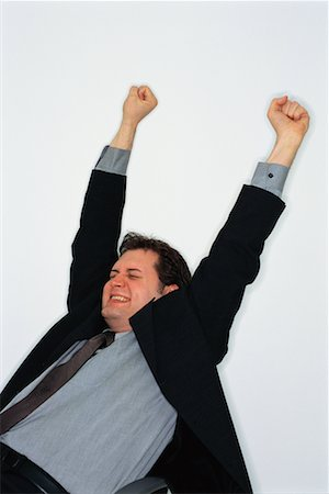 Man with Arms in the Air Stock Photo - Rights-Managed, Code: 700-00286219