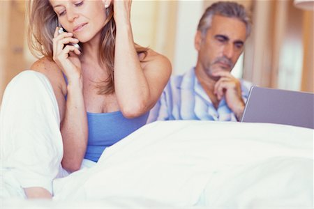 Couple in Bed Stock Photo - Rights-Managed, Code: 700-00286565