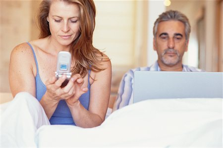 Couple in Bed Stock Photo - Rights-Managed, Code: 700-00286566
