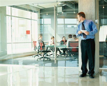sweaty businessman - Businessman Nervous Before Presentation Stock Photo - Rights-Managed, Code: 700-00286715
