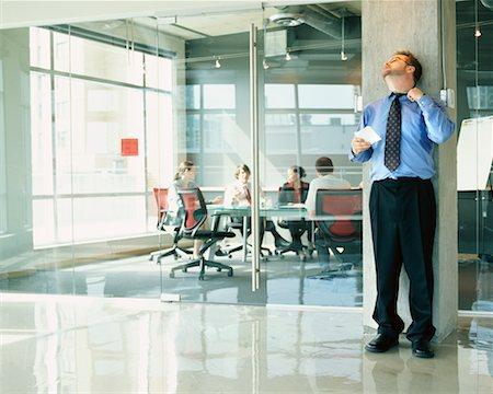 sweaty businessman - Businessman Nervous Before Presentation Stock Photo - Rights-Managed, Code: 700-00286716