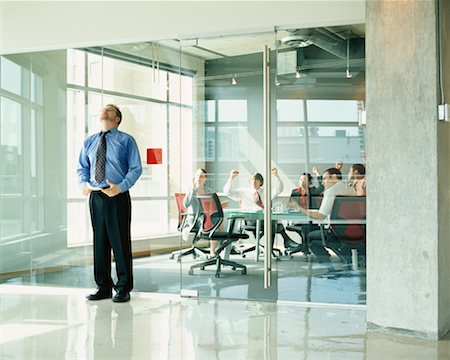 sweaty businessman - Businessman Nervous Before Presentation Stock Photo - Rights-Managed, Code: 700-00286717