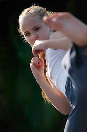 Girl doing Karate Stock Photo - Rights-Managed, Code: 700-00328208