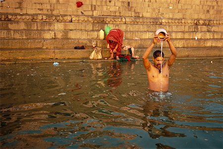 Bathing in Ganges River Varanasi, India Stock Photo - Rights-Managed, Code: 700-00328485