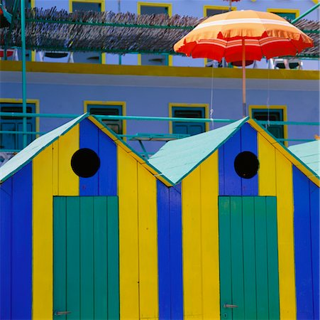 Bathing Huts Marina Piccola Capri, Italy Stock Photo - Rights-Managed, Code: 700-00345284