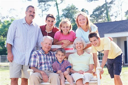 Portrait of Extended Family Stock Photo - Rights-Managed, Code: 700-00342074