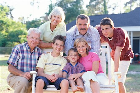 Portrait of Extended Family Stock Photo - Rights-Managed, Code: 700-00342075