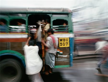 People on Bus Calcutta, India Stock Photo - Rights-Managed, Code: 700-00357089