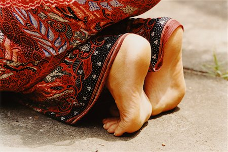 Feet of Girl Praying in Temple Penestanan, Bali, Indonesia Stock Photo - Rights-Managed, Code: 700-00364291